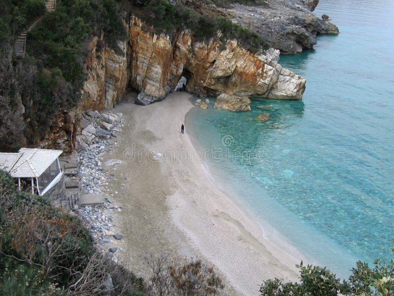 Una pequeña playa fotos de archivo libres de regalías