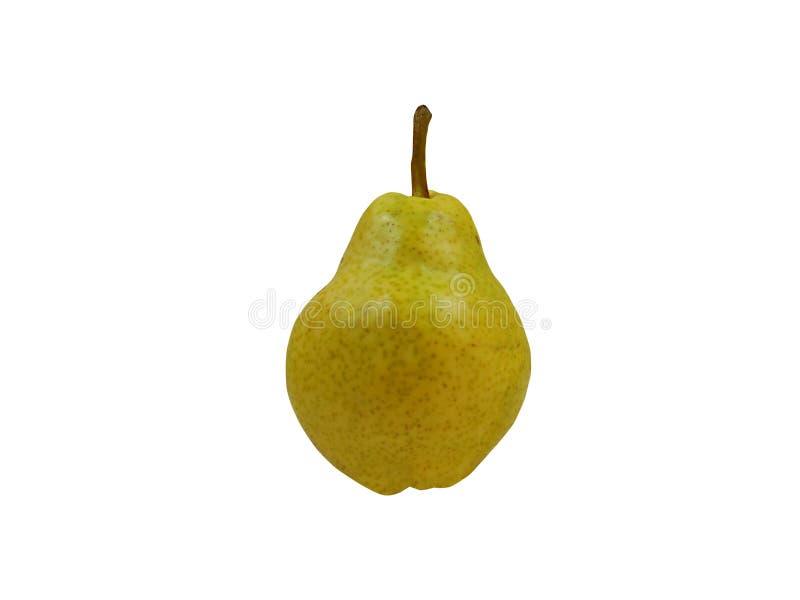 Una pera con un fondo blanco que se utilizará fotografía de archivo libre de regalías