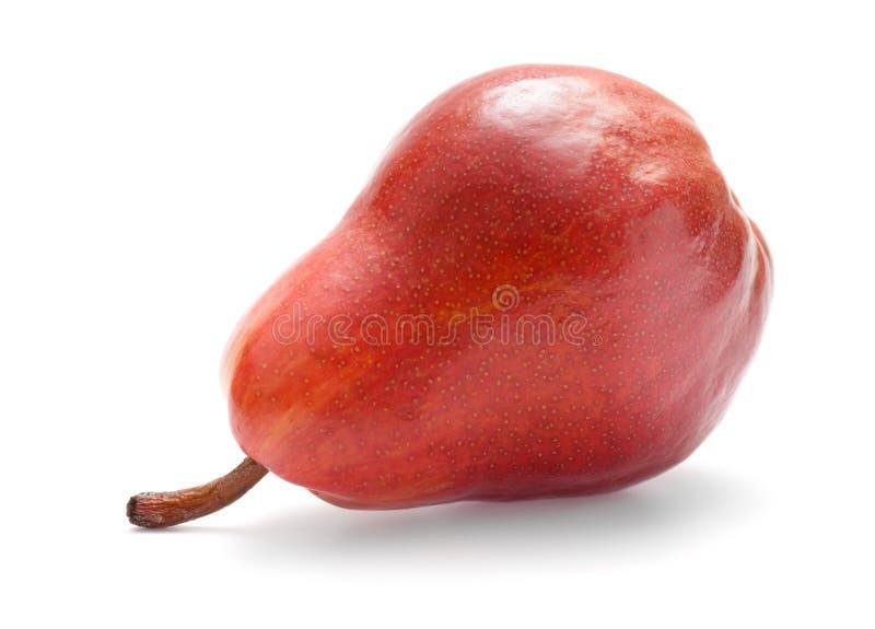 Una pera roja imagen de archivo