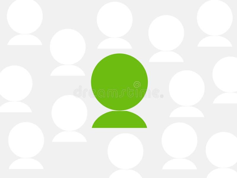 Una persona verde illustrazione vettoriale