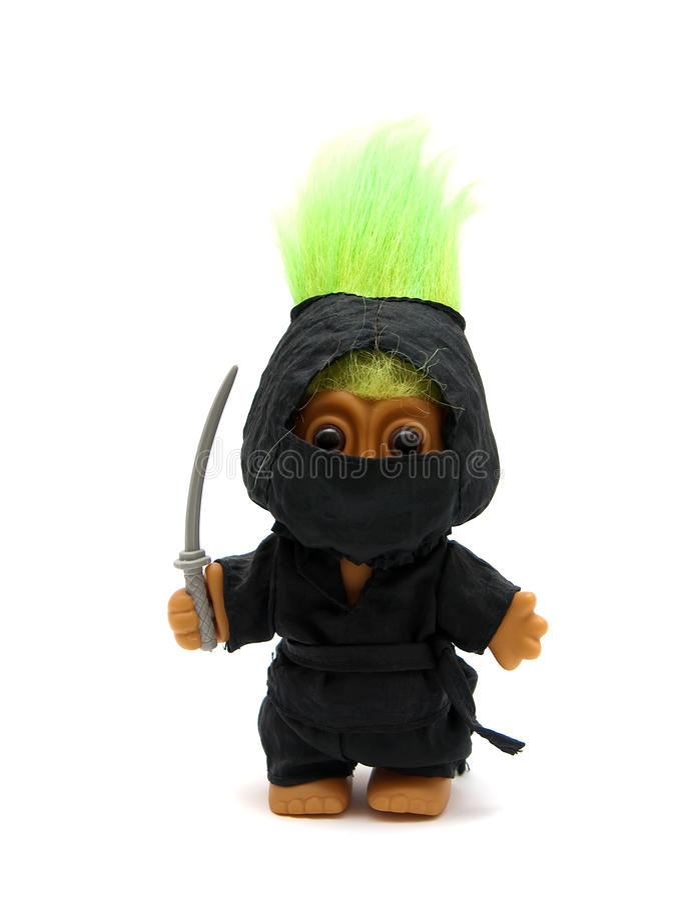 Una Pesca a traina-Ninja immagini stock