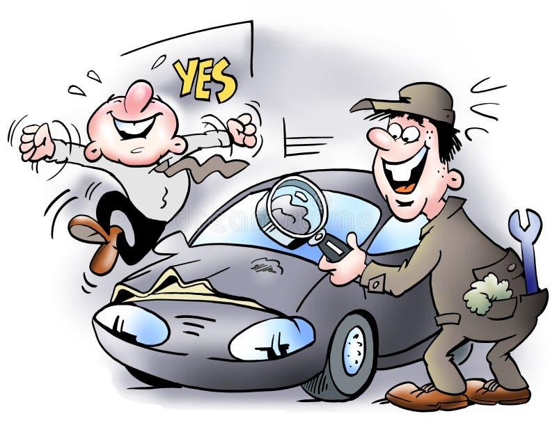 Una piccola ammaccatura nell'automobile illustrazione vettoriale