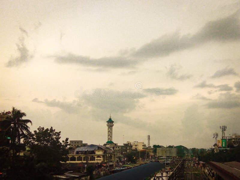 Una piccola bella città del Bangladesh immagini stock libere da diritti