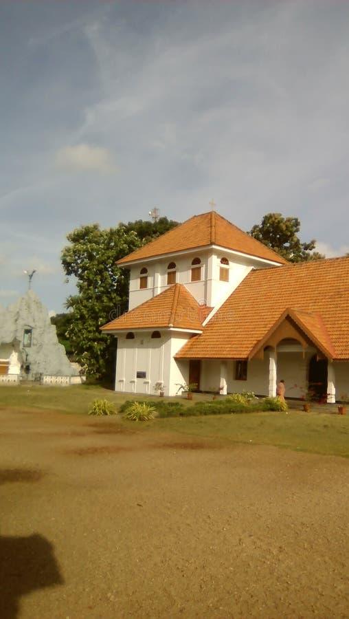 Una piccola costruzione di chiesa in Changanacherry, Kerala immagini stock libere da diritti