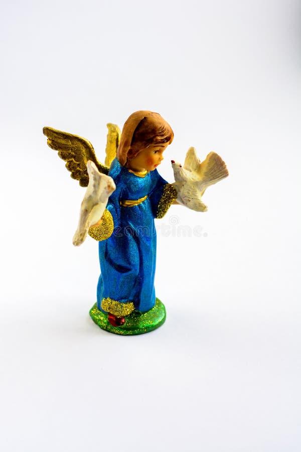 Una piccola scultura Singole figurine fotografie stock