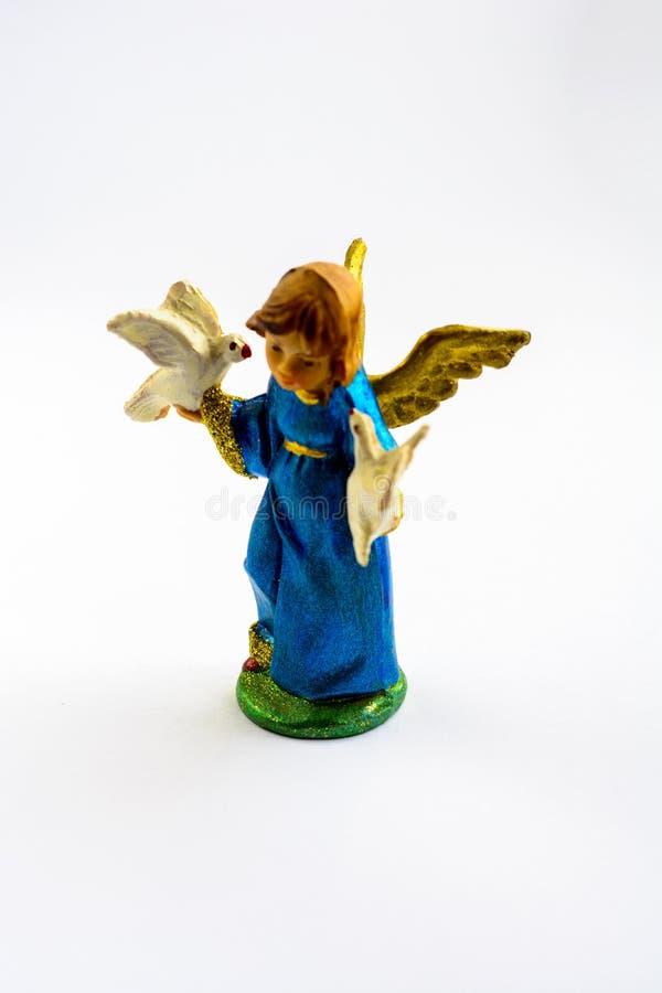 Una piccola scultura Singole figurine fotografia stock