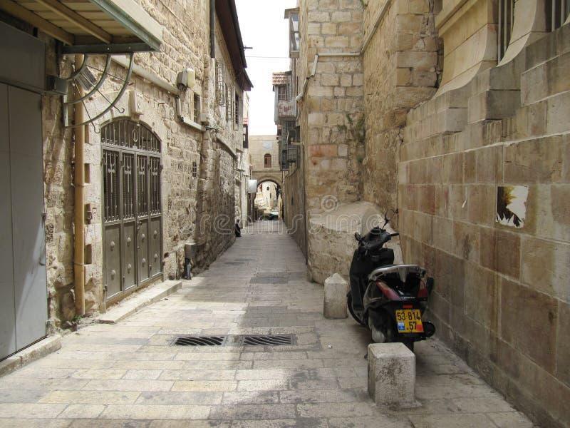 Una piccola via in Israele fotografia stock libera da diritti
