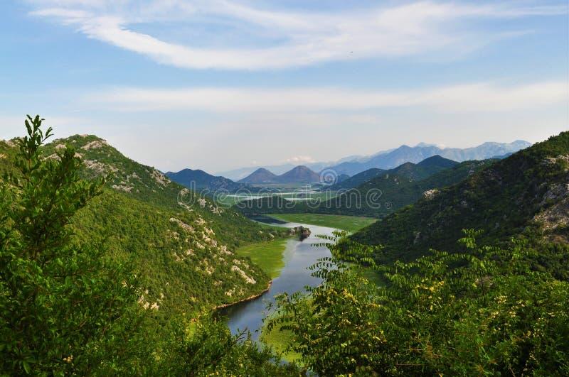 Una piccola vista dal parco nazionale del lago Skadar - Montenegro fotografia stock