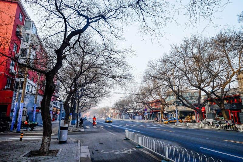 Una pieza del camino en Pekín China imagen de archivo