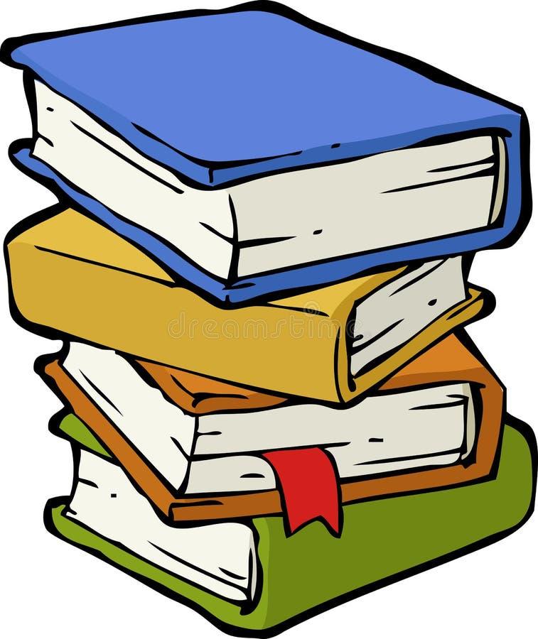 Una pila de libros stock de ilustración