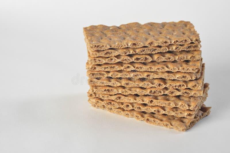 Una pila de rebanadas seca el pan foto de archivo libre de regalías