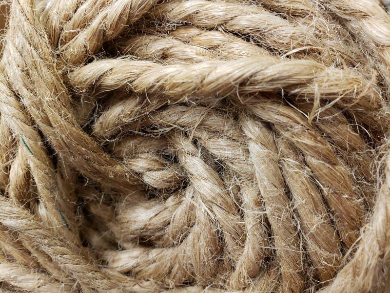 Una pila di corda arrotolata fotografia stock libera da diritti