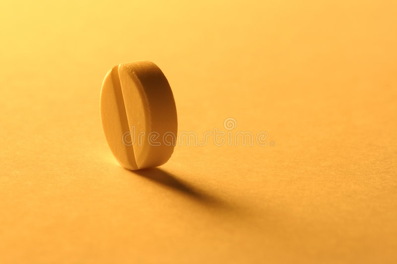 Una pillola fotografia stock