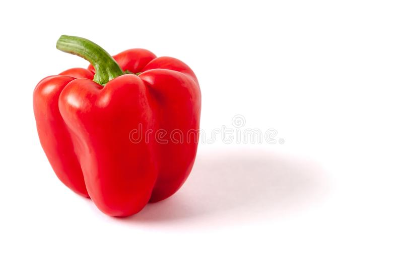 Una pimienta dulce, rojo, iluminación se fue, con el espacio de la copia imagenes de archivo