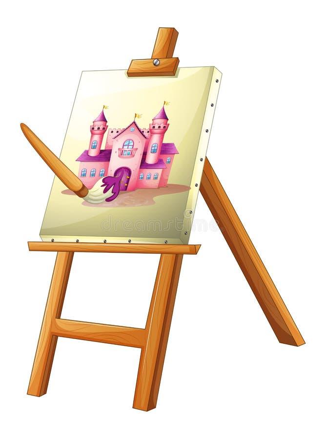 Una pintura de un castillo libre illustration