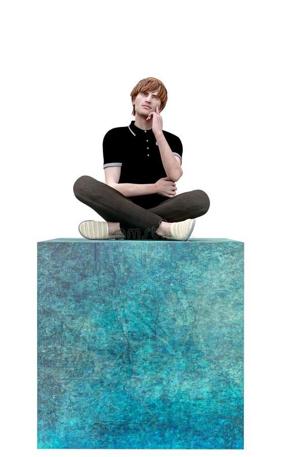 Una pintura del piensa fuera de la caja o del concepto cuadrado fotos de archivo libres de regalías