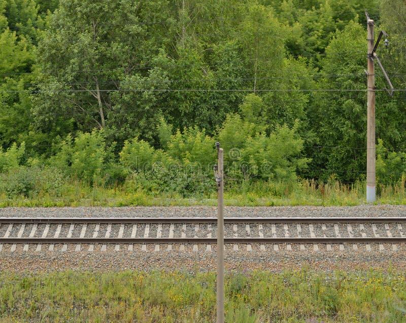 Una pista ferroviaria fotografía de archivo libre de regalías