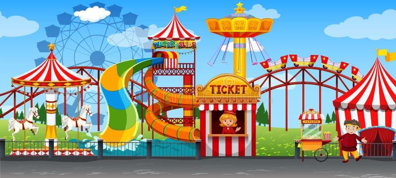 Una plantilla del circo de la diversión stock de ilustración