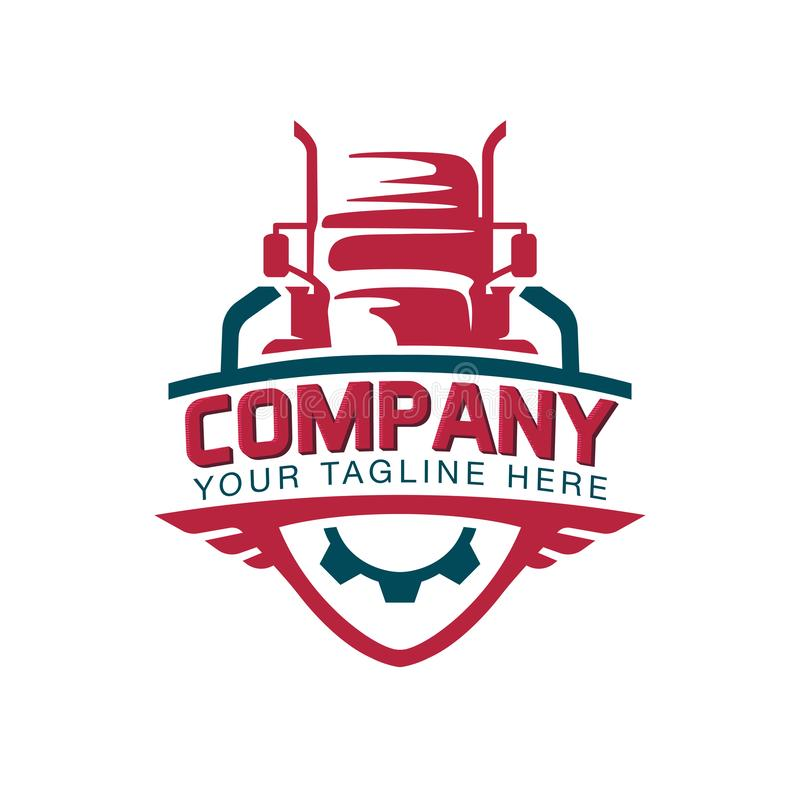 Una plantilla del logotipo del camión, cargo, entrega, logística libre illustration