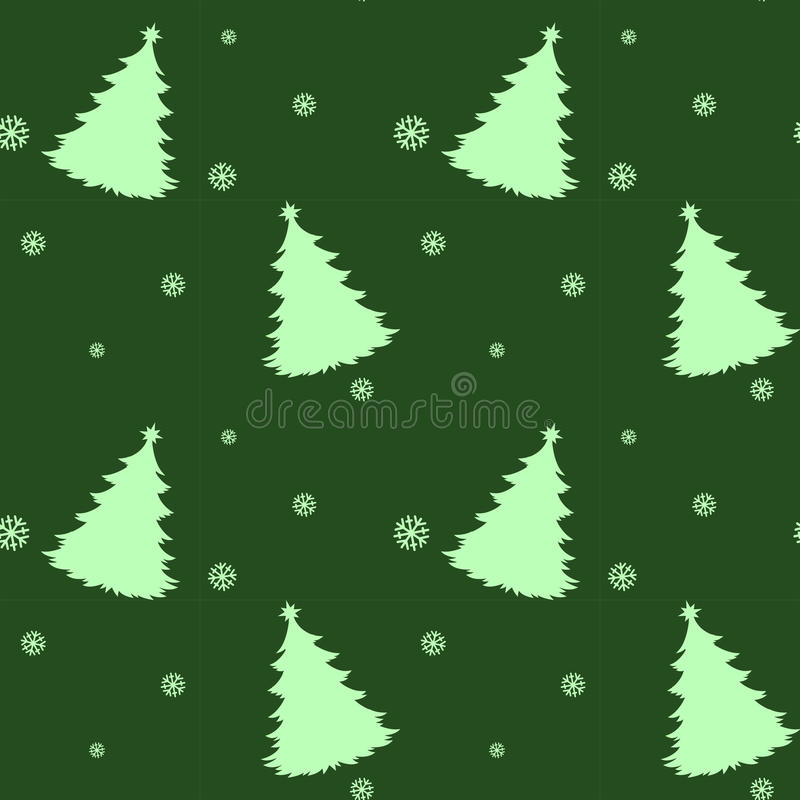 Una Plantilla Verde Inconsútil Para La Navidad Con Los árboles De ...