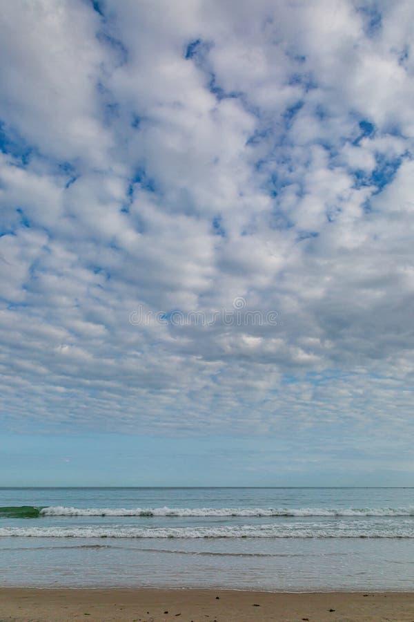 Una playa en la isla del jersey fotografía de archivo