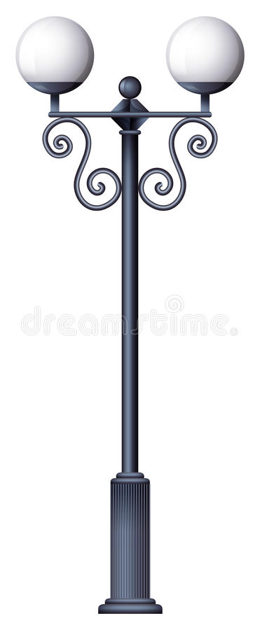 Una posta della lampada illustrazione vettoriale