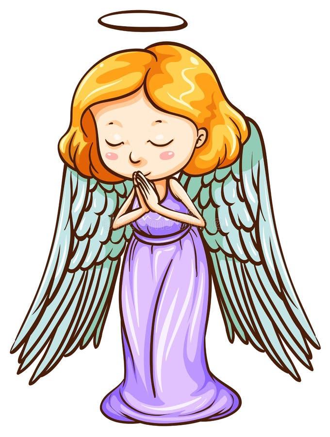 Una preghiera di angelo royalty illustrazione gratis