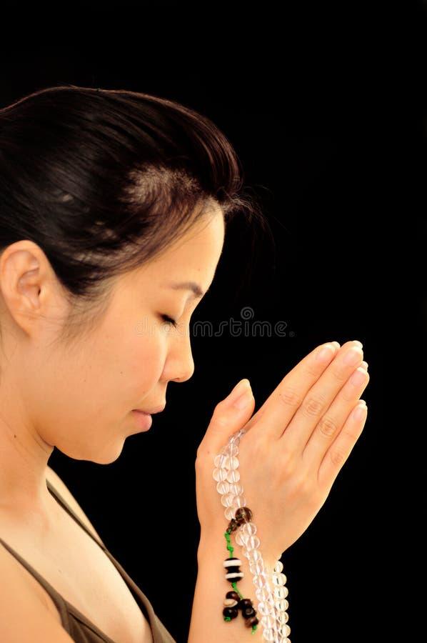 Una preghiera silenziosa fotografia stock libera da diritti