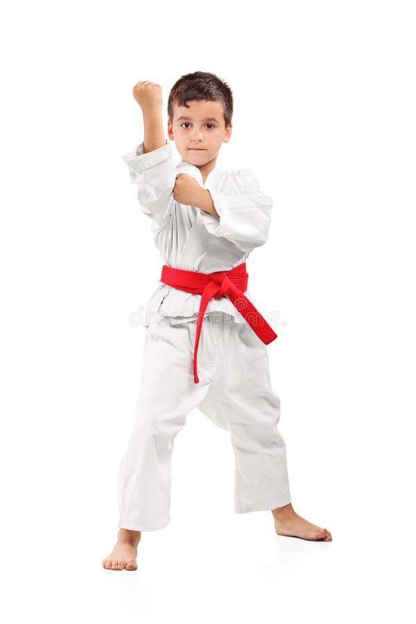 Una presentación del cabrito del karate fotografía de archivo libre de regalías