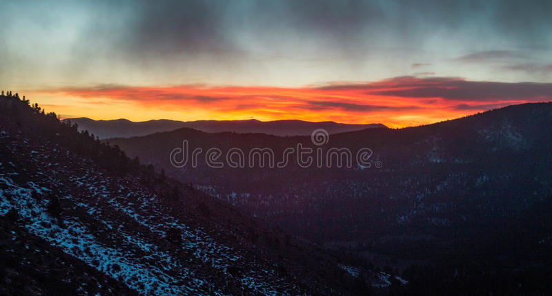 Una prima alba di 2017 immagini stock