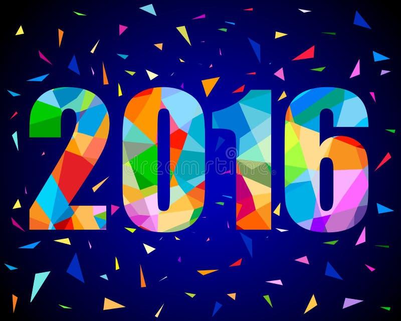 una progettazione di 2016 nuovi anni royalty illustrazione gratis