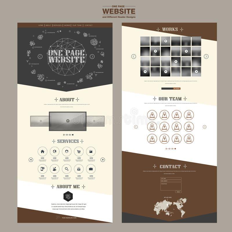 Una progettazione elegante del modello del sito Web della pagina royalty illustrazione gratis