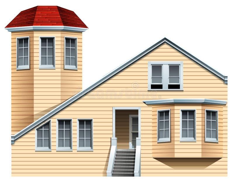 Una proprietà commerciale illustrazione vettoriale