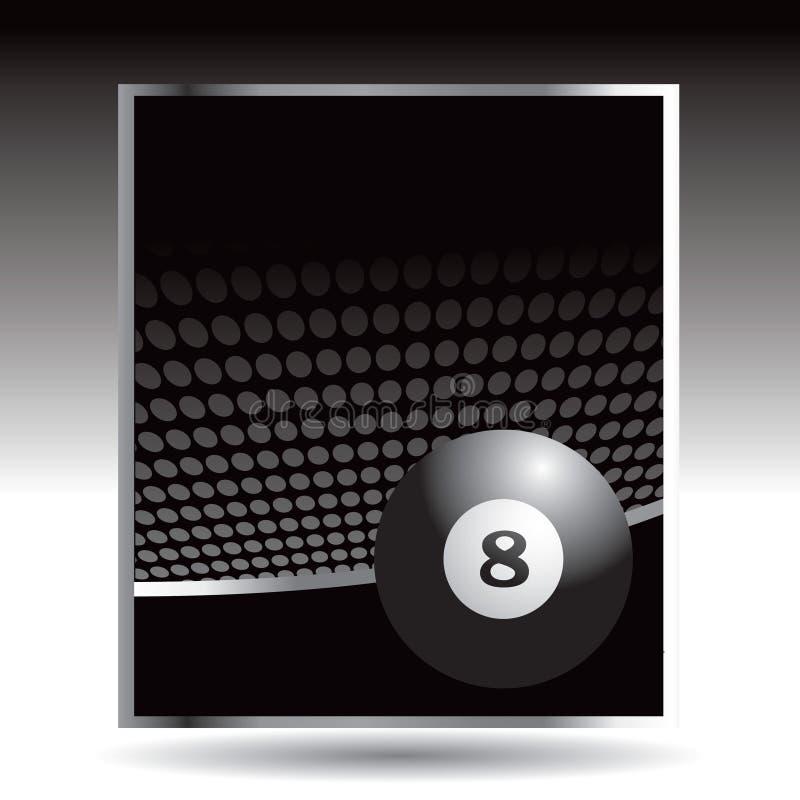 Una pubblicità delle otto sfere illustrazione vettoriale