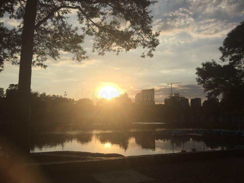 Una puesta del sol fotos de archivo
