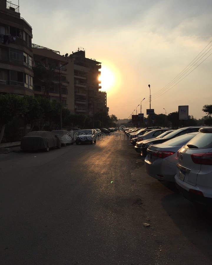 Una puesta del sol de la ciudad foto de archivo libre de regalías