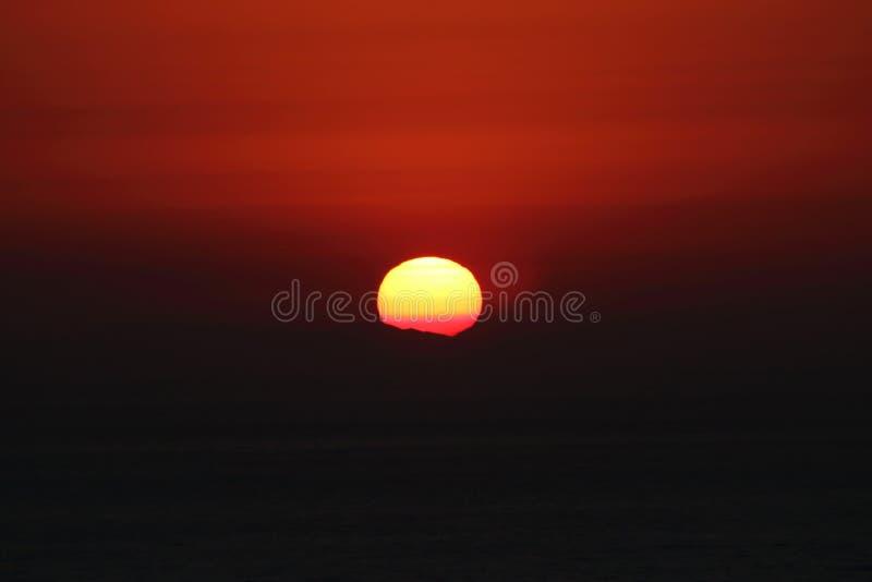 Una puesta del sol en Dana Point fotos de archivo libres de regalías