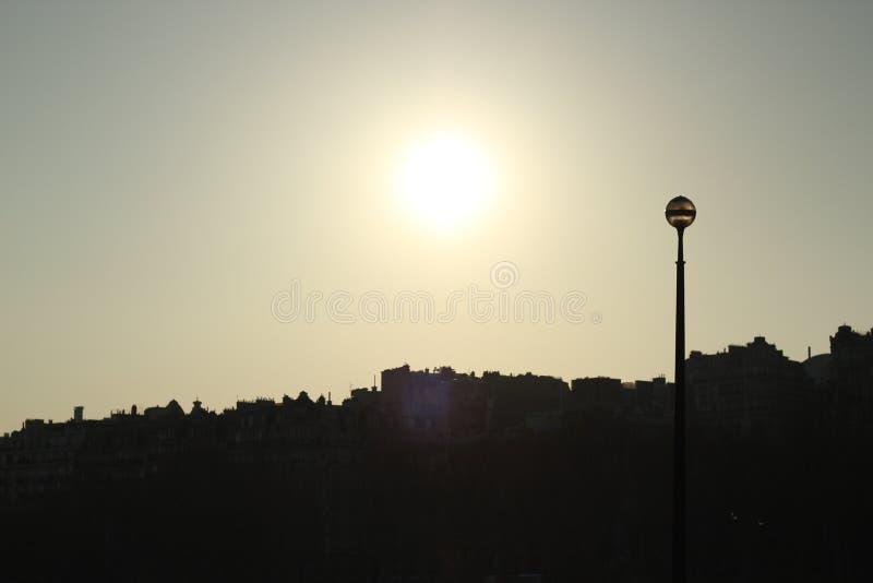 Una puesta del sol portuguesa imágenes de archivo libres de regalías