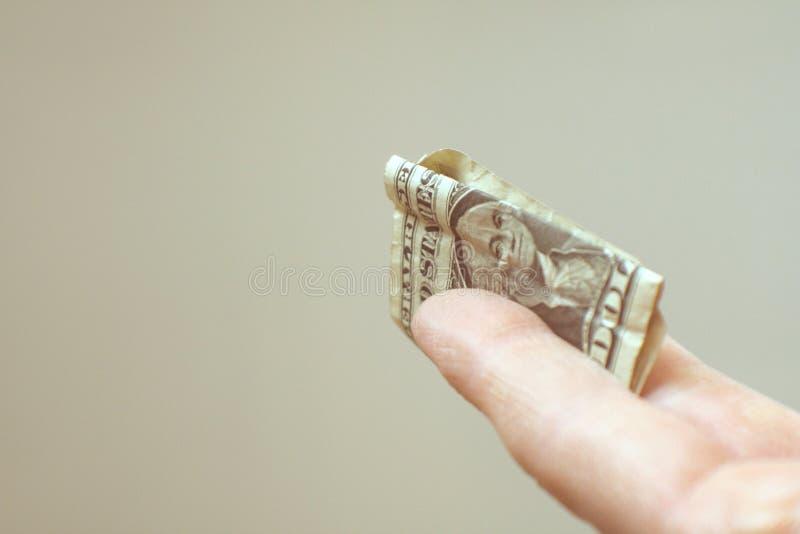 Una punta dell'un dollaro immagine stock