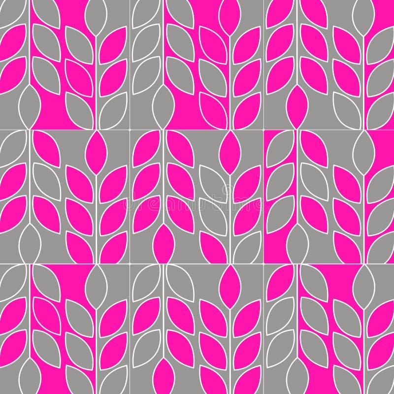 Una puntilla de hojas marca el PA blanco de la silueta orgánica de la primavera del vector ilustración del vector