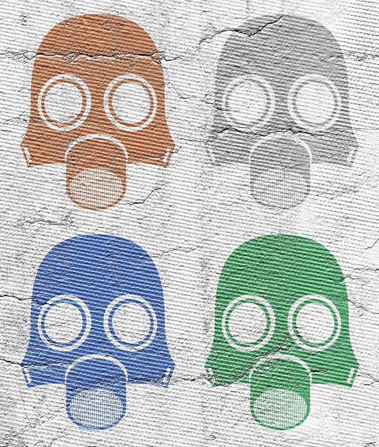 Una radiazione di quattro maschere royalty illustrazione gratis