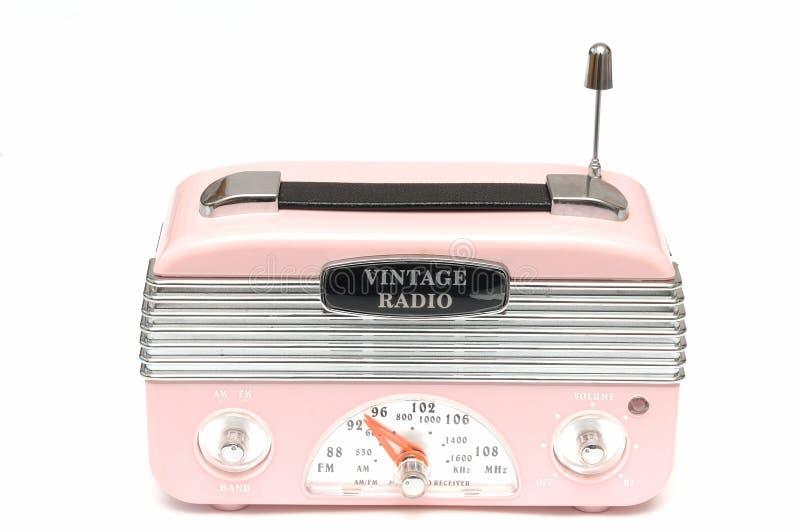 Una radio di rosa di progettazione moderna dell'era nostalgica fotografia stock libera da diritti