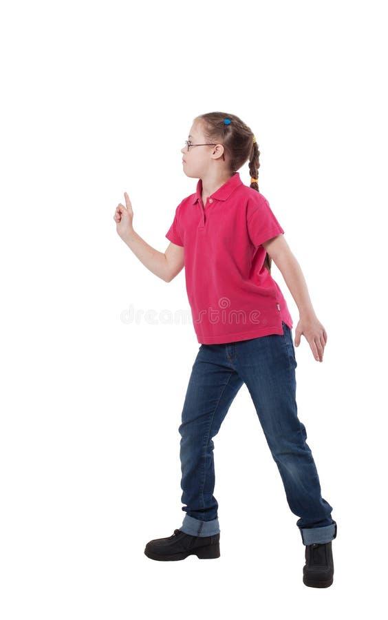 Una ragazza con i bisogni dello speciale nel profilo immagine stock libera da diritti