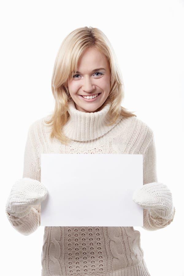 Una ragazza con una tabella vuota immagine stock - Colorazione immagine di una ragazza ...