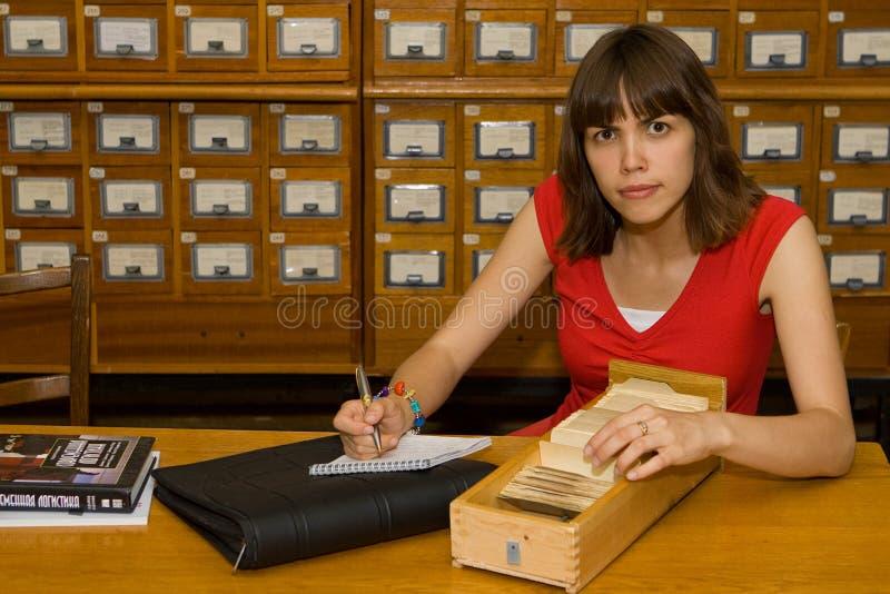 Una ragazza di istituto universitario fotografie stock