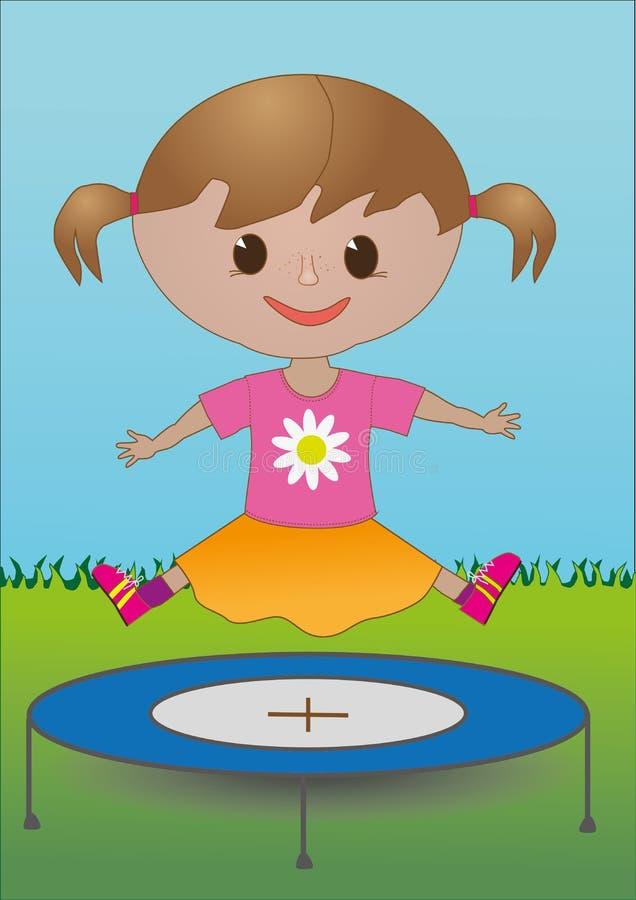 Una ragazza su un trampolino immagine stock libera da diritti