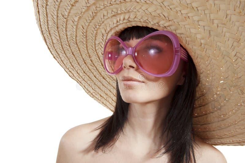 Una ragazza in un cappello messicano fotografia stock libera da diritti