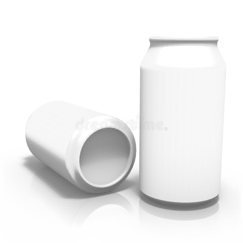 una rappresentazione 3d di due latte della bevanda, su fondo bianco royalty illustrazione gratis