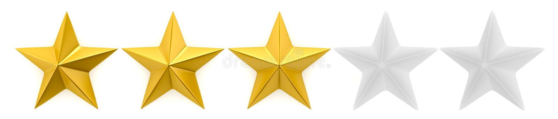 Una rassegna di una - cinque stelle illustrazione vettoriale