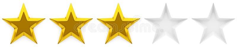 Una rassegna o una valutazione di zero - cinque stelle illustrazione vettoriale